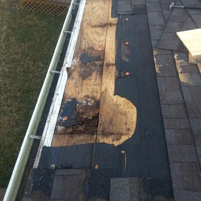 Eave Roofing Repair Before